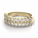 Diamond Wedding Bands 1.00 Ct Natural Certified Diamond Solid Yellow Gold Wedding
