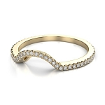 Engagement Bands 1.05 Ct Natural Certified Diamond Solid Yellow Gold Wedding