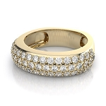 Unique Wedding Bands 2.00 Ct Natural Certified Diamond Solid Yellow Gold Wedding