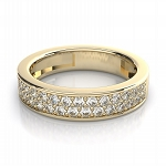 Wedding Engagement Bands 1.50 Ct Natural Certified Diamond Solid Yellow Gold Wedding