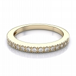 Wedding Bands 1.00 Ct Natural Certified Diamond Solid Yellow Gold Wedding