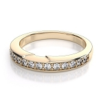 Diamond Wedding Bands 1.00 Ct Natural Certified Diamond Solid Gold Wedding