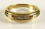 Ring Bands 0.50 Ct Natural Certified Diamond Solid Gold Wedding