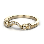 Gold Wedding Bands For Women 0.40 Ct Natural Certified Diamond Wedding
