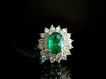 Cocktail Rings Online 0.38 Ct Natural Certified Diamond Emerald Solid Gold Weekend
