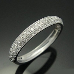 White Gold Engagement Rings 2.00 Ct Natural Certified Diamond Designer Workwear