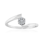 White Gold Wedding Rings 0.20 Ct Natural Certified Diamond Everyday