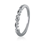 White Gold Rings For Women 0.30 Ct Natural Certified Diamond Office Wear