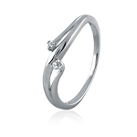 White Gold Rings For Her 0.15 Ct Natural Certified Diamond Special Occasion