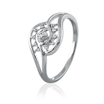 White Gold Promise Rings 0.35 Ct Natural Certified Diamond Festive