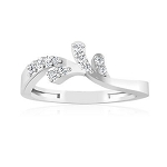 Diamond And White Gold Rings 0.30 Ct Natural Certified Diamond Vacation