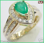 Emerald Ring Designs 1.25 Ct Natural Certified Diamond (1.55 Ct Gemstone) Solid Gold Everyday