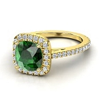 Emerald Engagement Rings 1.00 Ct Real Certified Diamond Solid Gold Party