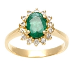 Emerald Diamond Ring 0.30 Ct 100% Natural Certified Diamond (1.00 Ct Gemstone) Solid Gold Office Wear