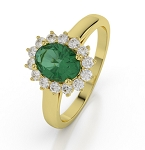 Emerald Engagement Rings 0.38 Ct Natural Certified Diamond Gemstone Solid Gold Special Occasion