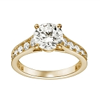 Engagement Rings For Women 1.15 Ct Cen 0.65 Ct Natural Certified Diamond Solid Gold