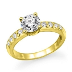 Solitaire Engagement Ring 1.00 Ct Cen 0.60 Ct Real Certified Diamond Solid Siolid Gold