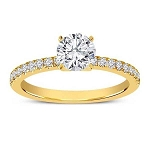 Solitaire Rings For Women 1.00 Ct Cen 0.50 Ct Certified Diamond Solid Yellow Gold