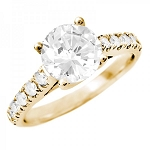 Engagement Diamond Rings 1.50 Ct Cen 0.50 Ct Certified Diamond Solid Gold