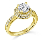 Diamond Rings For Engagement 1.70 Ct Cen 0.70 Ct Certified Diamond Solid Gold