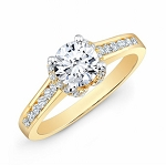 Diamond Engagement Rings For Women 1.50 Ct Cen 0.90 Ct Certified Diamond Solid Gold