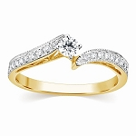Buy Engagement Ring Online 0.70 Ct Cen 0.30 Ct Certified Diamond Solid Gold