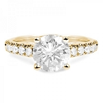 Engagement Rings Online 2.00 Ct Cen 1.20 Ct Certified Diamond Solid Gold