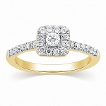 Buy Engagement Ring Online 0.80 Ct Cen 0.30 Ct Certified Diamond Solid Gold