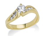 Diamond Engagement Rings 0.70 Ct Cen 0.40 Ct Certified Diamond Solid Gold