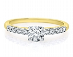 Gold Engagement Rings 1.00 Ct Cen 0.50 Ct Certified Diamond Solid Gold