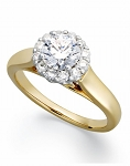 Beautiful Engagement Rings 1.00 Ct Cen 0.55 Ct Certified Diamond Solid Gold