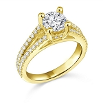 Engagement Ring Designs 2.50 Ct Cen 1.25 Ct Certified Diamond Solid Gold
