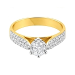 Beautiful Engagement Rings 1.50 Ct Cen 0.80 Ct Certified Diamond Solid Gold