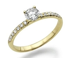 Solitaire Engagement Ring 1.00 Ct Cen 0.50 Ct Certified Diamond Solid Gold