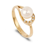 Gemstone Rings Online Natural Certified Diamond (3.00 Ct Pearl)Solid Gold Special Occasion