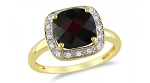 Gemstone Rings Online 0.35 Ct Natural Certified Diamond (0.85 Ct Garnet)Solid Gold Vacation