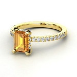 Golden Topaz Rings 0.70 Ct Real Certified Diamond (2.00 Ct Gemstone) Solid Gold Special Occasion