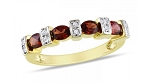 Gemstone Ring Design Natural Certified Diamond (1.00 Ct Garnet) Solid Gold Party