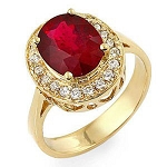 Ruby And Diamond Ring 0.50 Ct Natural Certified Diamond Solid Gold Everyday