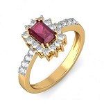 Real Ruby Rings 0.65 Ct Natural Certified Diamond Solid Gold Special Occasion