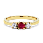 Ruby Rings In Gold 0.20 Ct Natural Certified Diamond (0.40 Ct Ruby) Weekend