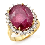 Ruby Ring Design 0.80 Ct Certified Diamond (2.00 Ct Gemstone) Solid Gold Workwear