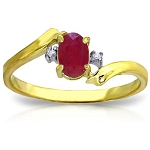 Ruby Gold Ring Natural Certified Diamond (0.80 Ct Gemstone) Office Wear