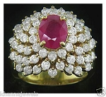 Ruby Ring 2.02 Ct Natural Certified Diamond (1.75 Ct Gemstone) Solid Yellow Gold Festive
