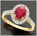 Ruby Engagement Rings 0.42 Ct Natural Certified Diamond (1.20 Ct Gemstone) Solid Yellow Gold Weekend