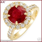 Ruby And Diamond Ring 0.62 Ct Natural Certified Diamond (1.00 Ct Gemstone) Solid Gold Weekend