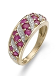 Ruby Rings In Gold 0.50 Ct Real Certified Diamond (0.65Ct Gemstone) Special Occasion