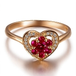 Ruby Rings For Women 0.25 Ct Real Certified Diamond Solid Gold Weekend