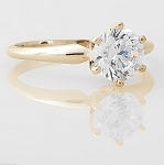 Solitaire Diamond Ring 1.00 Ct Natural Certified Diamond Solid Gold  Wedding