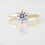 1.25 Ct Natural Certified Diamond Solid Gold Single Solitaire Ring Anniversary